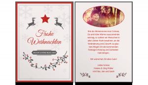 Weihnachtskarte A5 hoch