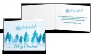 Weihnachtskarte A5 quer Falz