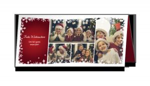 Weihnachtskarte A65 hoch Falz