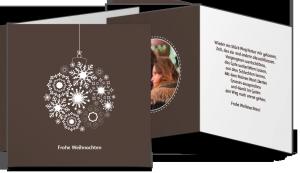 Weihnachtskarte Quadrat Falz